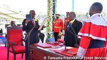 Tansania Amtseid des Präsidenten John Pombe Magufuli