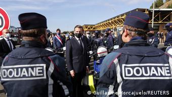 Frankreich Spanien Macron Grenze (Guillaume Horcajuelo/REUTERS)