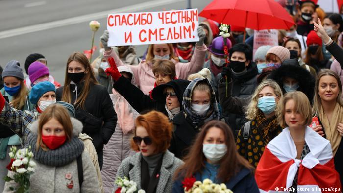 Акция протеста в Минске, 31 октября 2020 года