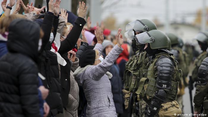 Proteste in Belarus gegen Lukaschenko (picture alliance/dpa)