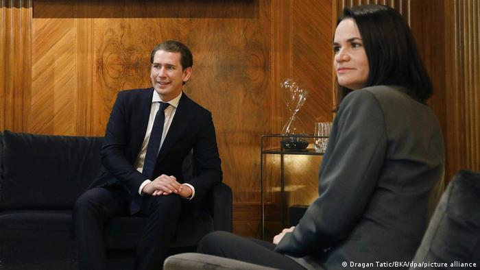 Österreich Swetlana Tichanowskajas Besuch (Dragan Tatic/BKA/dpa/picture alliance)