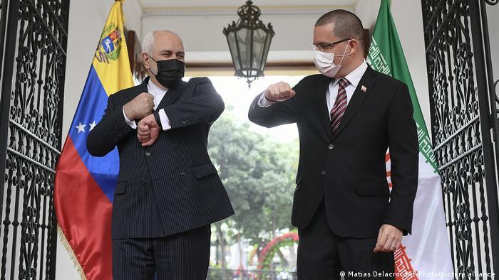 Venezuela Iran | Außenministertreffen | Mohammad Javad Zarif und Jorge Arreaza