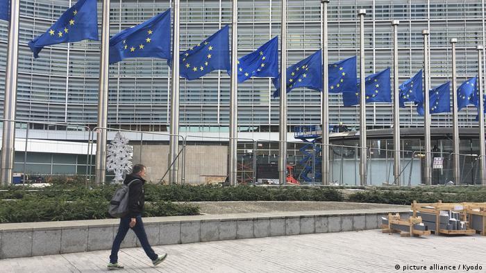 EU flags at half-staff after terror attacks in Vienna, Nice