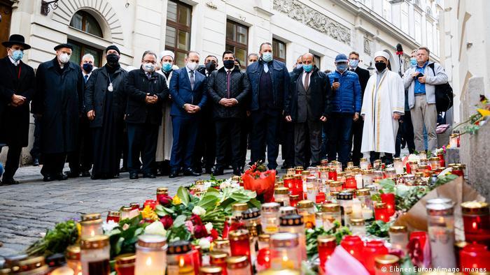 Траур по погибшим в теракте в Вене, 5 ноября 2020 года