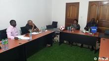 Meeting of the Guinea-Bissau Football Federation with the FIFA delegation. Date: 05.11.2020 Place: Dakar, Senegal Provide: Braima Darame, DW Keywords: Guinea-Bissau Football Federation, FFGB, Carlos Teixeira, Caíto, Adilé Sebastião