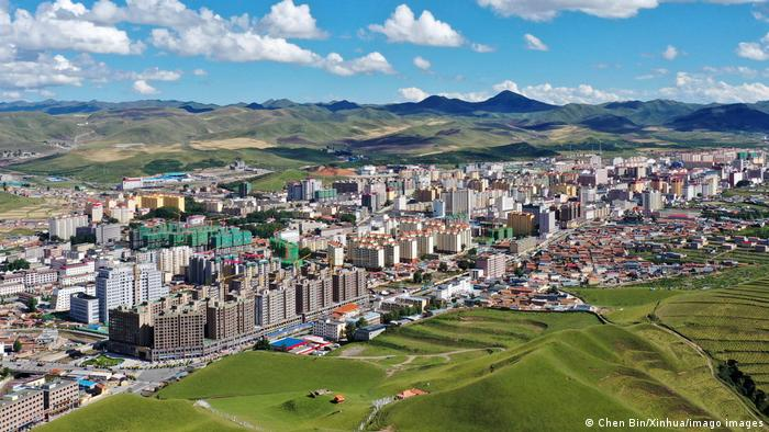 City of Lanzhou, in northwest China
