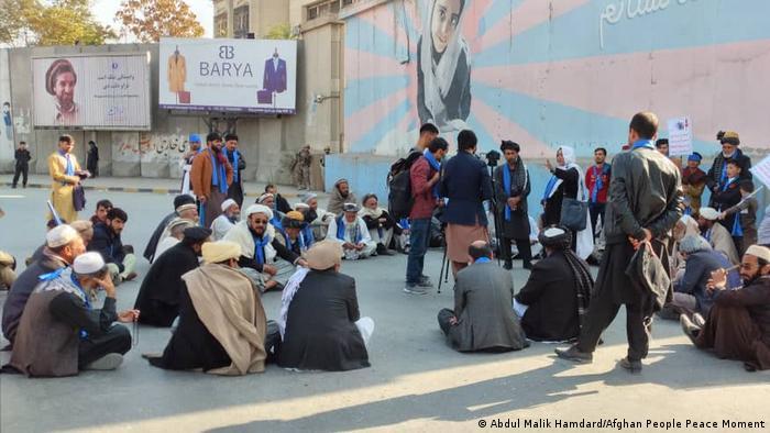 Afghanistan Friedensbewegung vor der US Botschaft in Kabul