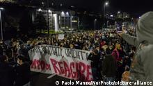 Italien Cosenza   Coronavirus   Protest gegen Maßnahmen