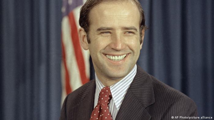 Joe Biden em 1972, em seus tempos no Senado