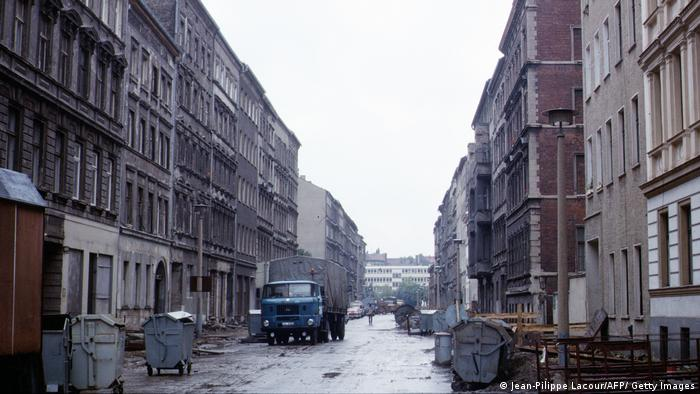 Gray streets in Berlin, 1988 (Jean-Pilippe Lacour / AFP / Getty Images)