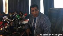 Dina Mufti, Ethiopia's foreign ministry spokesman. Foto: Solomon Muchie / DW am 6.11.2020