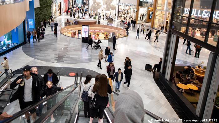 A shopping center near Stockholm