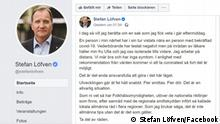 Screenshot Facebook Stefan Löfven