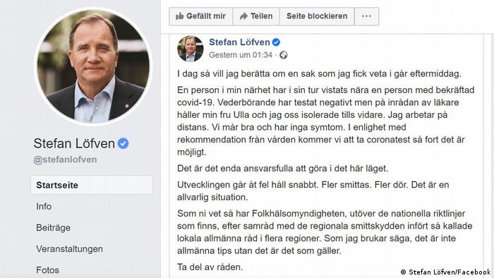 Screenshot Facebook Stefan Löfven (Stefan Löfven/Facebook)