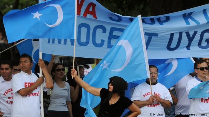 Symbolbild Konflikt Uiguren - China | Protest in Washington 2009