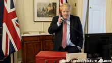 UK-Premierminister Boris Johnson telefoniert