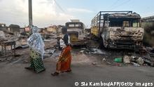 Elfenbeinküste I Straßenansicht in Toumodi