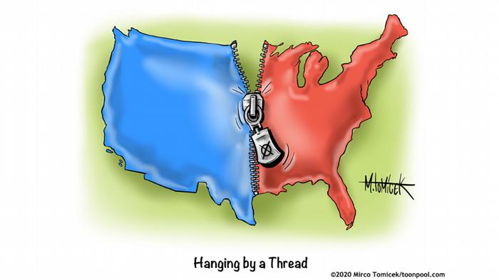 Usaha rekatkan kembali risleting peta AS