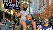 USA I Menschen feiern Joe Bidens Wahlsieg in Philadelphia