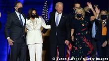 USA Wilmington | Kamala Harris und Joe Biden mit Partnern