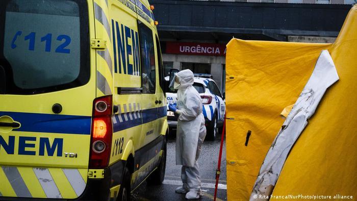 Corona-Patientenaufnahme in der Universitätsklinik von Porto