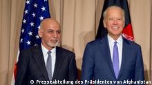 Afghanistan Ashraf Ghani und Joe Biden