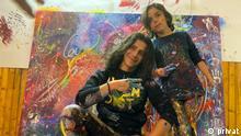 Künstler Maler Griechenland Türkei Benefiz Makail Akar und Niko