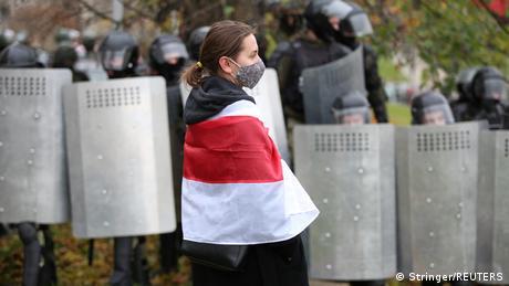 Belarus Sonntagsdemonstration in Minsk