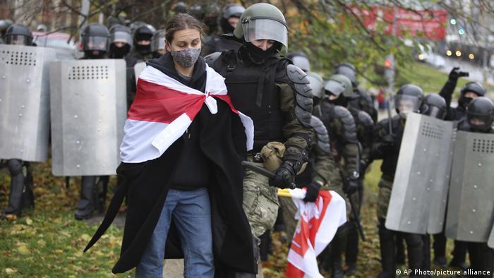 Задержания на протестах в Минске