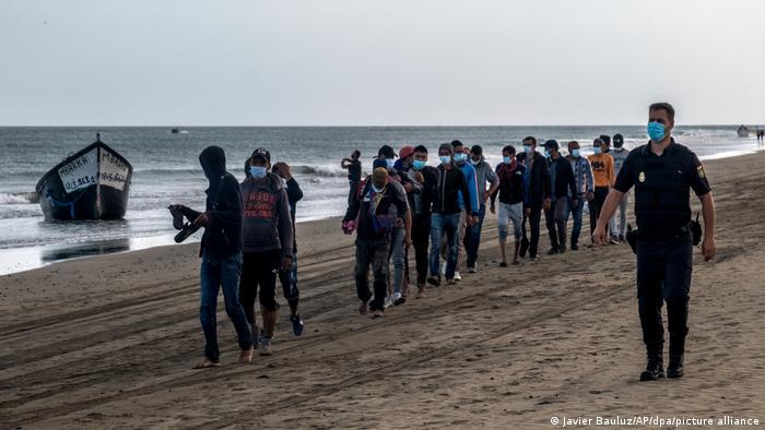Беженцы на Гран-Канария, октябрь 2020 г.