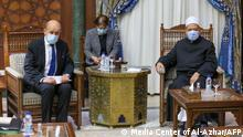 Kairo   Jean-Yves Le Drian besucht Groß-Imam Ahmed el-Tayeb