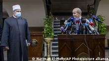 Kairo | Jean-Yves Le Drian besucht Groß-Imam Ahmed el-Tayeb
