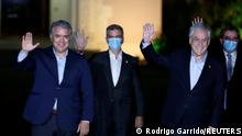 Chile Treffen Ivan Duque und Sebastian Pinera
