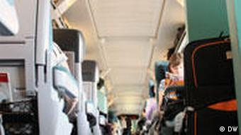 Inside Deutsche Bahn train
