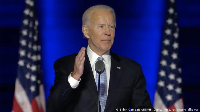 USA Wilmington   Rede Joe Biden und Kamala Harris nach dem Wahlsieg