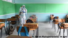 Afrika Schule Schüler Kinder Covid-19 Coronavirus Technik