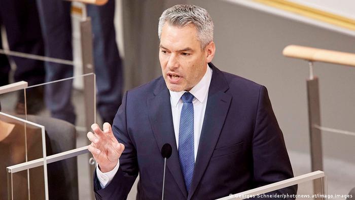 Der österreichische Innenminister Karl Nehammer (Foto: Georges Schneider/photonews.at/imago images)