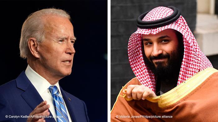 Bildkombo Joe Biden Kronprinz Mohammed bin Salman