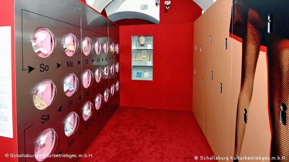An oversized birth control pill dispenser