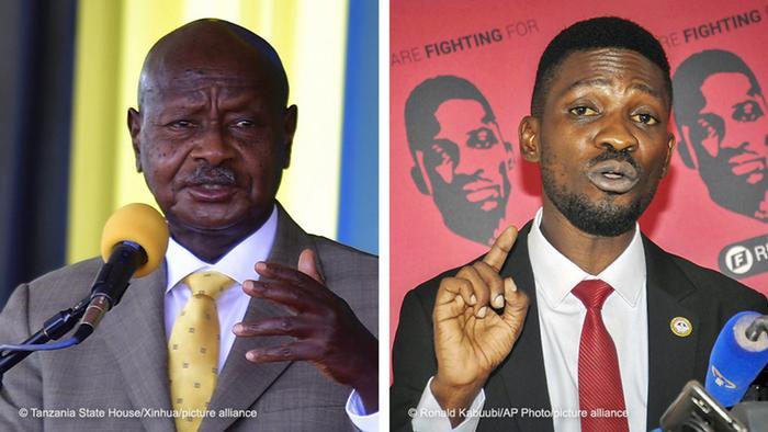 Yoweri Museveni und Bobi Wine