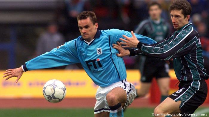 Fußball: TSV 1860 München - Martin Max (l)