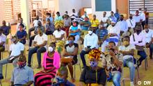 Vertriebene Lehrer aus dem Cabo Delgado-Konflikt bitten um humanitäre Hilfe. Foto: DW am 8.8.2020