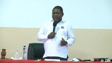 24.10.2020 Mosambik Pemba Felipe Nyusi während eines Treffens seiner Partei FRELIMO in Stadt Pemba, in Cabo Delgado Provinz.
