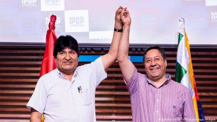 Evo Morales y Luis Arce.