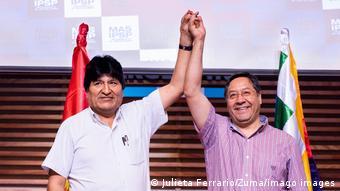 Evo Morales ve Luis Arce Catacora