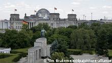 Vista da sede do Parlamento alemão, em Berlim