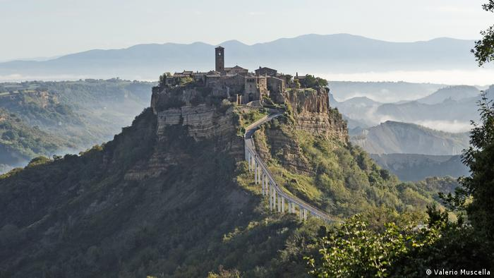 Civita di Bagnoregio, a castle on a hill in Viterbo, Italy