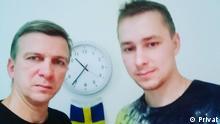 Vater und Sohn - Vitaliy und Vladislav Kuznetschik (Sohn, rechts im Bild), Minsk, Belarus Copyright: Privat
