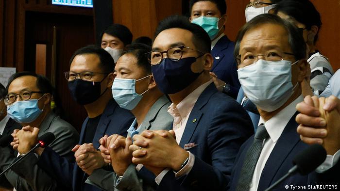 Hongkong PK Kenneth Leung, Dennis Kwok, Wu Chi-wai, Alvin Yeung und Kwok Ka-ki