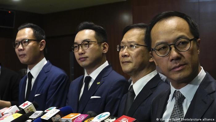 Los cuatro parlamentarios expulsados.